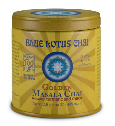 Golden Masala Chai Tin - 100 servings 3 oz. 3x3 inches