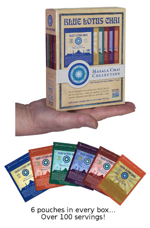 Masala Chai Collection - all 6 Varieties of Blue Lotus Chai in one box - a perfect gift