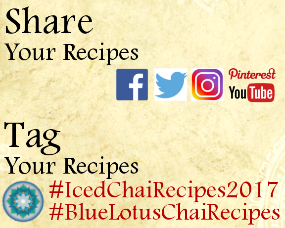 Share your Iced Chair Beverage Recipes & use the tags #icedchairecipes2017 and #bluelotuschairecipes