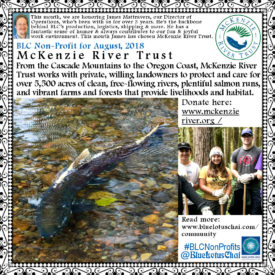 Non-Profit of the Month August - Mckenzie River Trust
