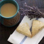 Lemon Lavendar Scones and Golden Masala Chai