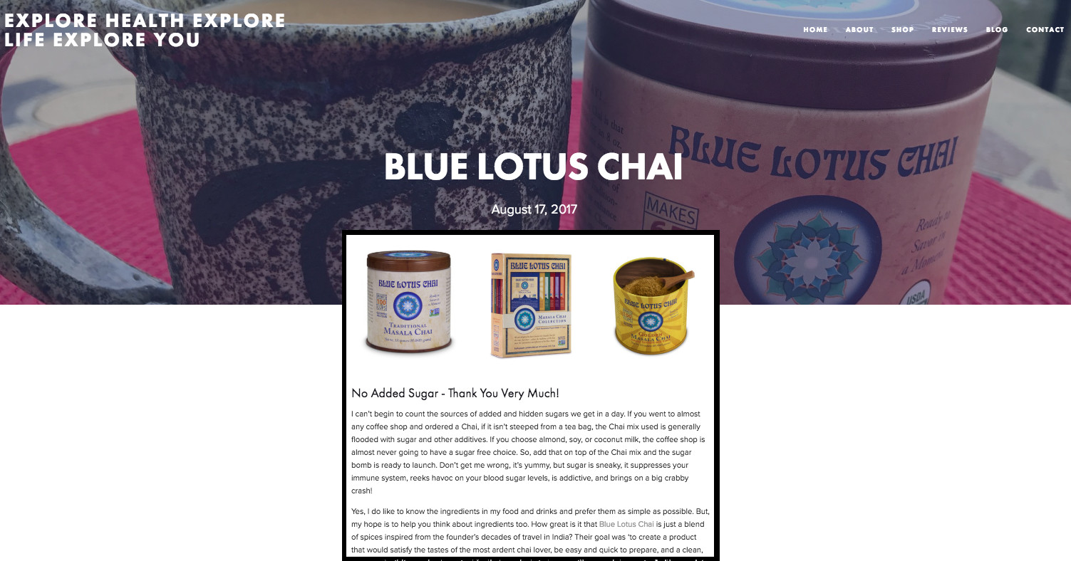 Blue Lotus Chai Masala Chai Review By Ann Felteau at annfelteau.com
