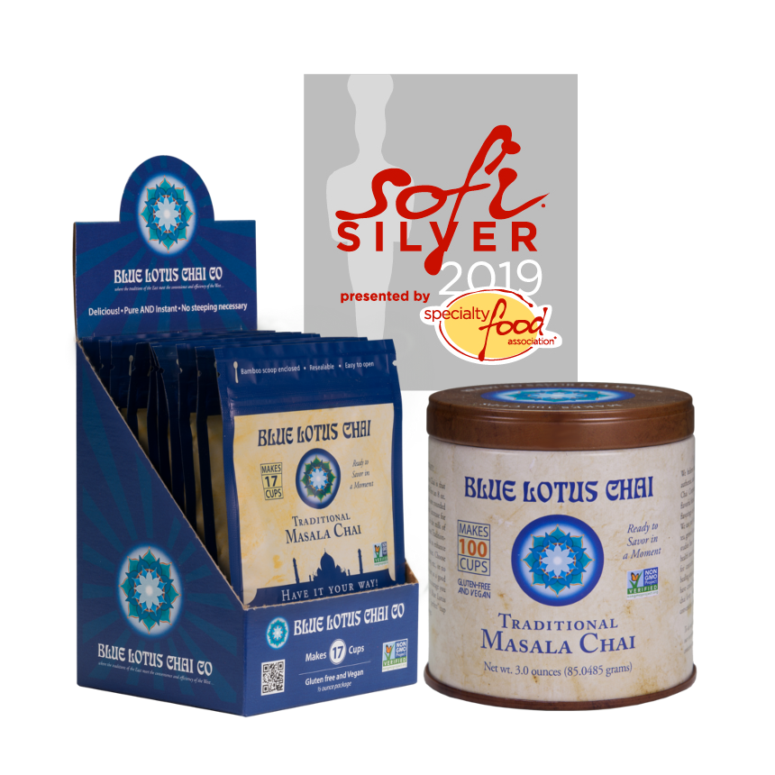 Blue Lotus Chai Receives 2019 Silver sofi™ Award For Their Traditional Masala Chai