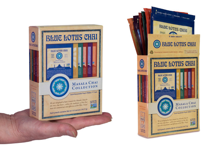 102 servings, 6 varieties of Blue Lotus Chai, the perfect gift!