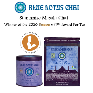 Blue Lotus Chai, for the 2nd consecutive year, Receives sofi! 2020 Bronze sofi™ Award For Star Anise Masala Chai