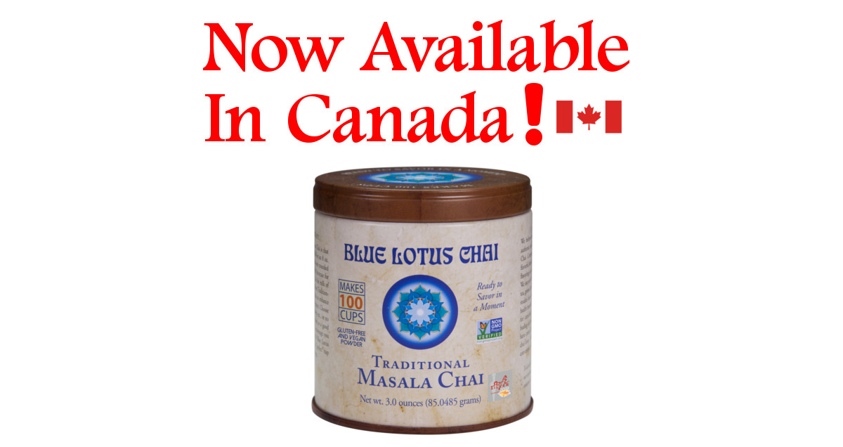 Blue Lotus Chai Now Available In Canada